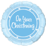 "18"" On Your Christening Boy Foil Balloon"